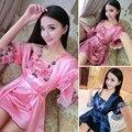 2016 summer women sexy nightgowns lace plus sleep dress nightwear silk ladies home dress style