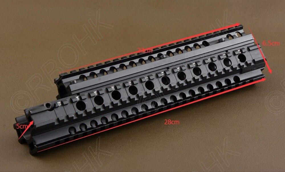 Tactical FN FAL picatinny rail Handguard Quad Rail Mounting System L1A1 Aluminium hunting shooting R4142