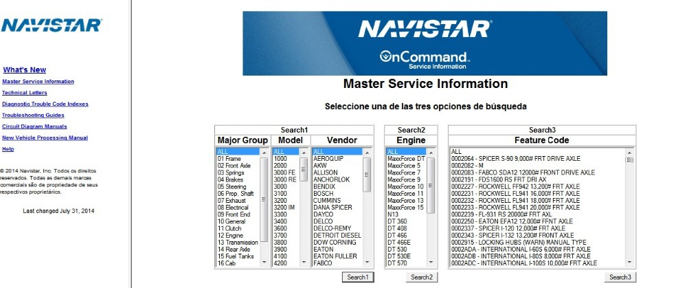 International Truck (ISIS) OnCommand Service Information [7-2014]