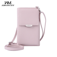 купить 2019 New Mini Women Messenger Bags High Quality PU Leather Women's Shoulder Crossbody Bags Foldable Cell Phone Bag Brand Purses по цене 833.03 рублей