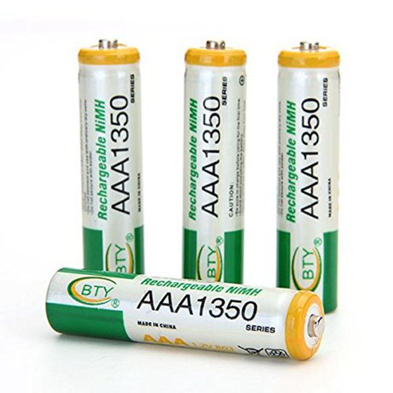 Top Deals BTY 4 X Rechargeable Batteries AAA 1350mAh 1.2V Ni-MH Ne bty 1000mah ni mh rechargeable aaa batteries 4 pack