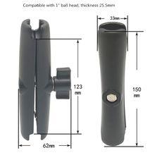 15 سنتيمتر طول سبائك الألومنيوم مزدوجة المقبس الذراع ل RAM مع 1 بوصة الكرة قاعدة جبل دراجة نارية كاميرا تمديد الذراع