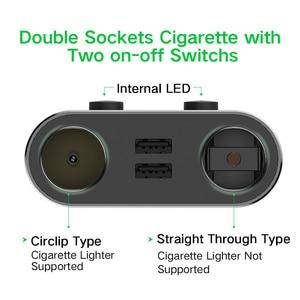 Image 3 - Ugreen çift USB araba şarjı desteği araba kaydedici evrensel cep telefonu araç şarj cihazı genişletici ile iphone şarj cihazı 6S Samsung