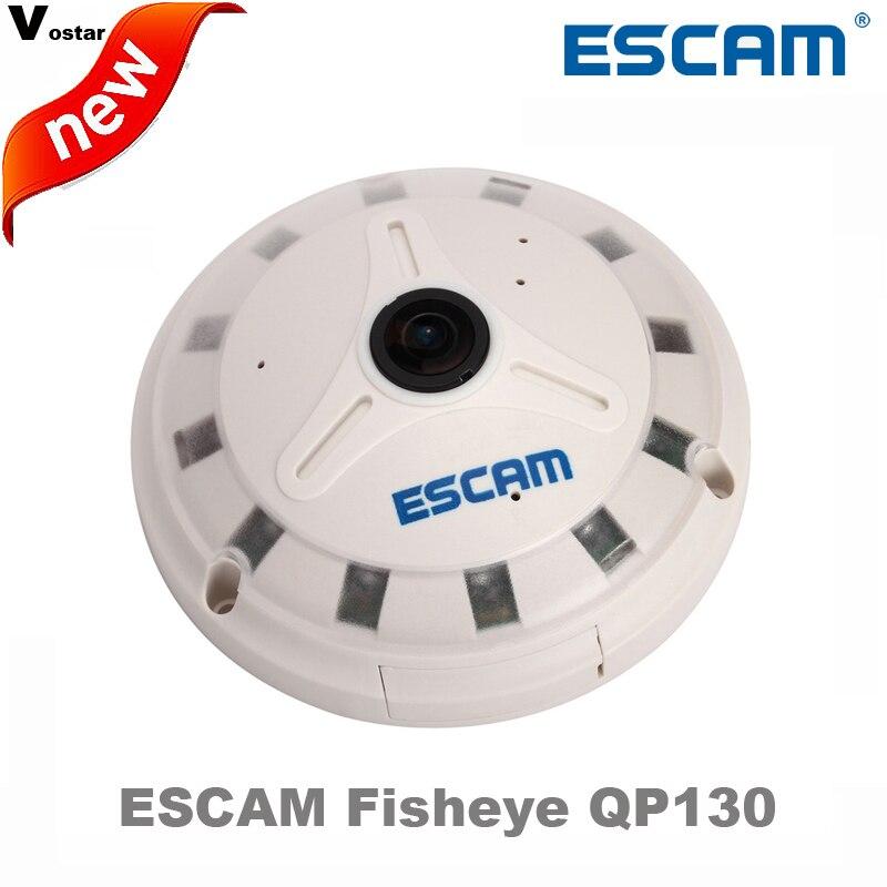 ESCAM Fisheye IP Camera QP130 1080P Full HD fisheye lens 1 3MP 360 Degree Night vision