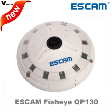 ESCAM Fisheye IP Camera QP130 1080P Full HD fisheye lens 1.3MP 360 Degree Night vision Onvif security camera support TF card