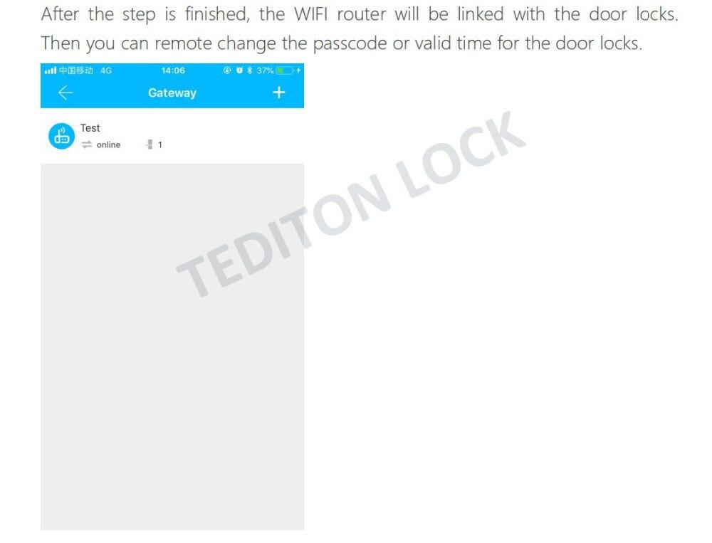 HTB1ArcdacnrK1RjSspkq6yuvXXaW G2 TT Lock App Bluetooth Smart Electronic Door Lock wifi Adapter Gateway