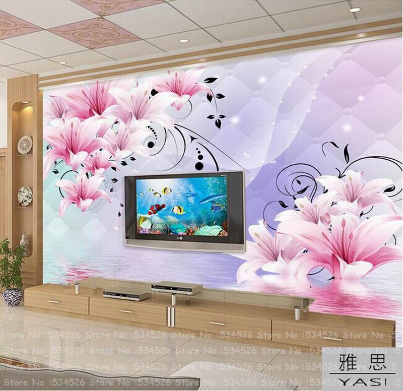 Foto l quido papel tapiz mural papel de parede painel de for Papel mural para dormitorio