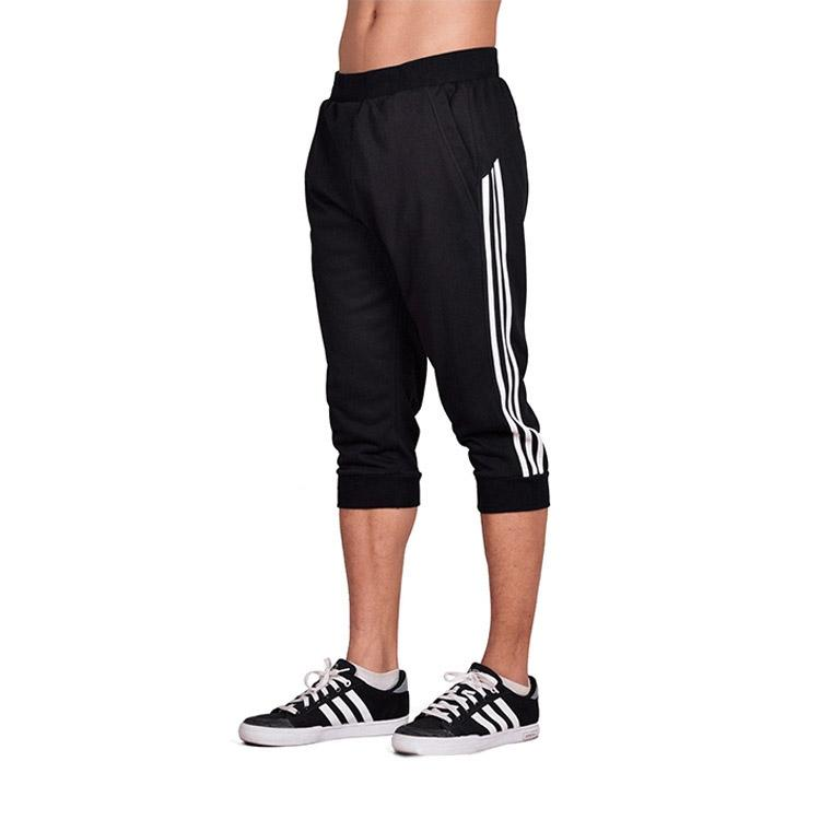 Spring Summer Men Sport Pants Capris Running Fitness Workout Jogger Pocket Pants 3/4 Athletic Sweatpant Trousers Cotton(China)