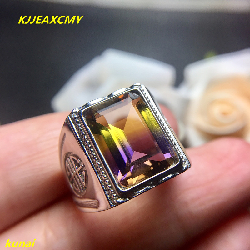 KJJEAXCMY fine jewelry 925 sterling silver inlaid with amethyst male and female universal type movable ring. kjjeaxcmy fine jewelry 925 sterling silver inlaid natural amethyst ring wholesale opening ladies adjustable support testing