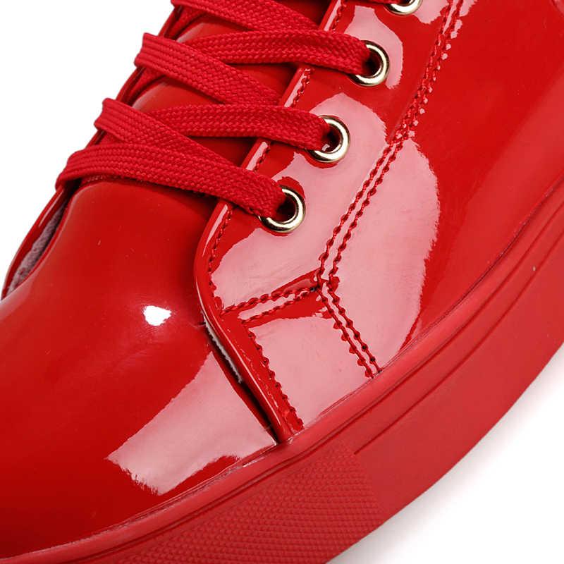 2019 Serin Erkekler Yüksek Üst Erkekler Altın Glitter krasovki Ayakkabı Bling Platformu Flats Ayakkabı Adam Parlak Vulkanize Leopar kafa Ayakkabı