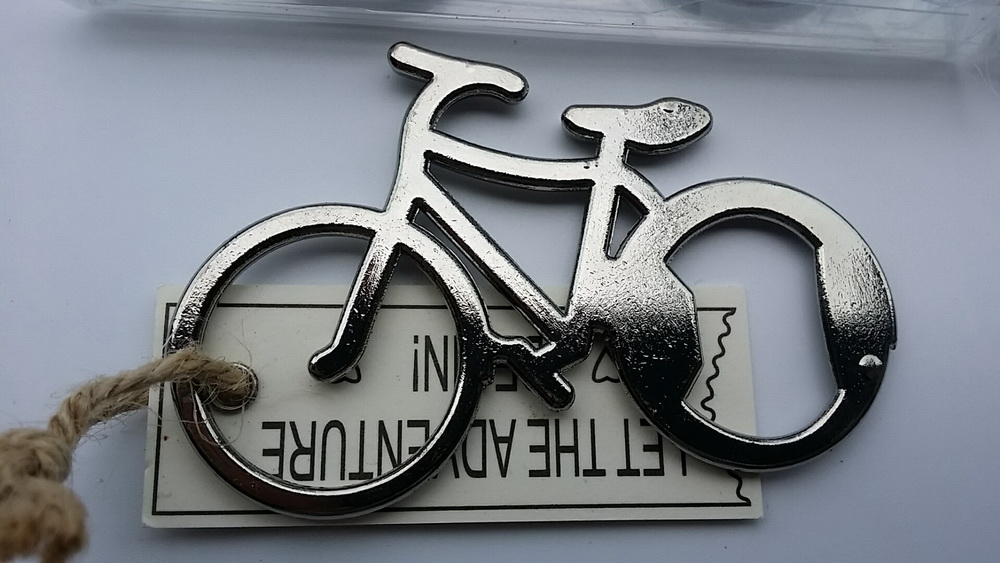 FREE SHIPPING(10pcs/Lot)+Lets Go On an AdventureChrome Bicycle Wine Bottle Opener in Gift Box Bridal&Wedding Favors