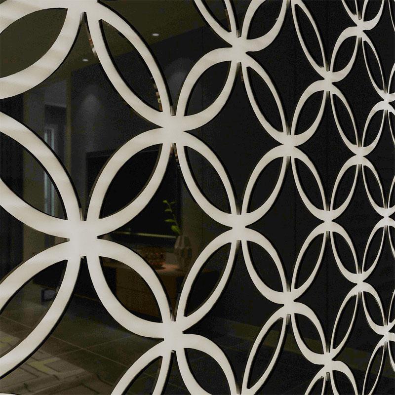 Personalizzato colorato Astratta combinazione circolare pasta parete astratta pittura decorativa splicing di auto adesivo adesivi a specchio - 3