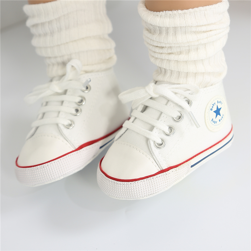 Toddler Kids Baby Boys Girls Shoes Canvas Soft Sole Crib Shoes Patchwork Anti-slip Shoes Fashion Casual Kids Shoes 5 Colors