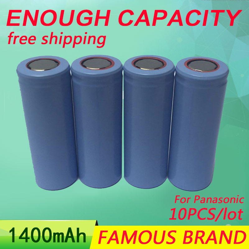 Golooloo 10Pcs/Lot 3.7V 1400Mah rechargeable Battery 18500 batteies Li-Ion battery image