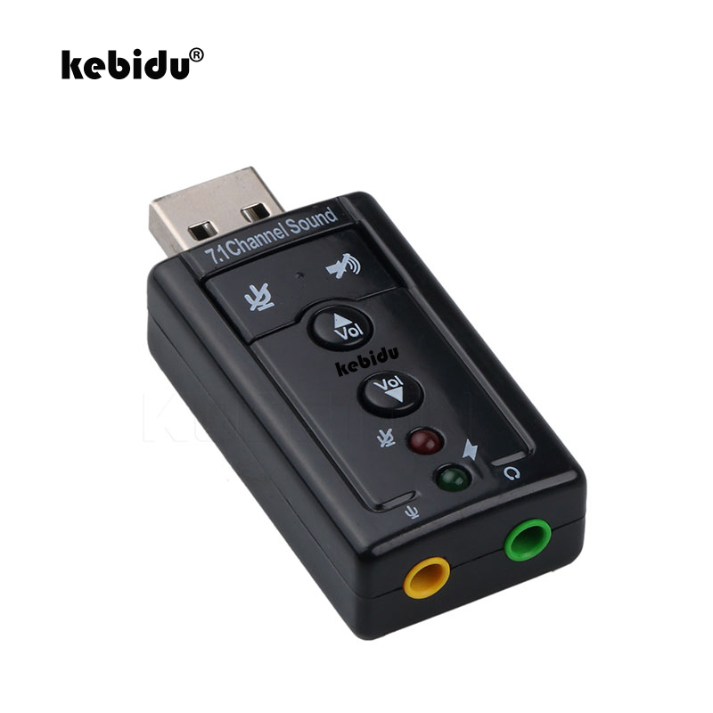 KebiduExternal USB To 3D Audio USB Sound Card Adapter 7.1