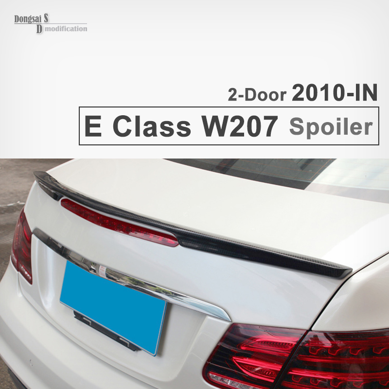 Mercedes Carbon fiber trunk AMG Style spoiler fit for Benz E class W207 2-door 2010-2015  coupe convertible vehicles 2015 2016 amg style w205 carbon fiber rear trunk spoiler wings for mercedes c class c180 c200 c250 c300 c350 c400 c450 c220