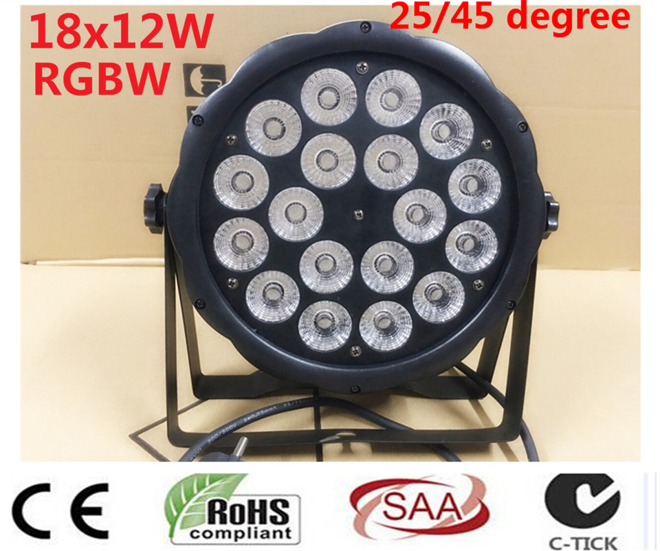 18x12W RGBW Led Par Light DMX Stage Lights Business Lights Professional Flat Par Can for Party KTV Disco DJ Lamp 8pcs lot 18x12w rgbw 4in1 led par light dmx stage lights business lights professional flat par can for party ktv disco lamp