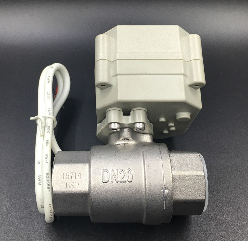 CE Approved TF20 S2 A 2 Way BSP NPT 3 4 Electric Stainless Steel Valve DC5V