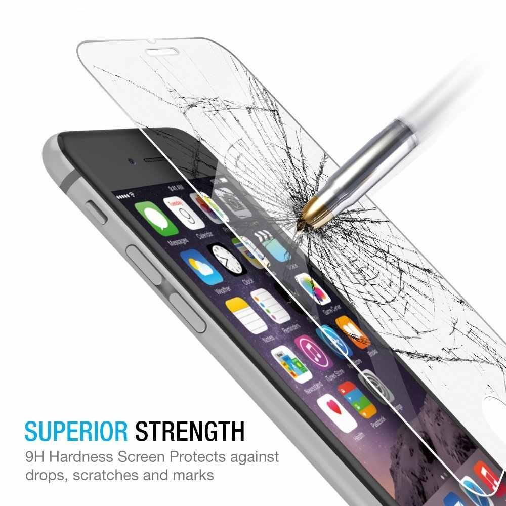 עבור iPhone X XR XS מקס 5 S 5 SE מזג זכוכית עבור iPhone 7 8 6 6s בתוספת זכוכית סיטונאי באיכות גבוהה 2.5D מסך מגן