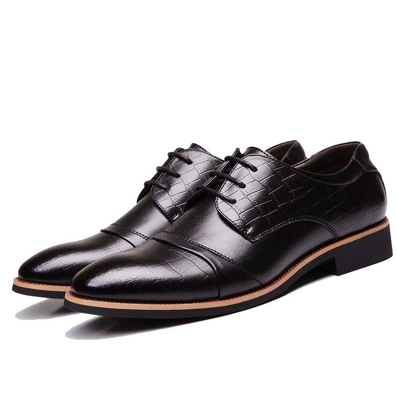 2016 Hot Sale Business Dress Shoes Men Leather Classic Fashion font b Oxford b font Shoes