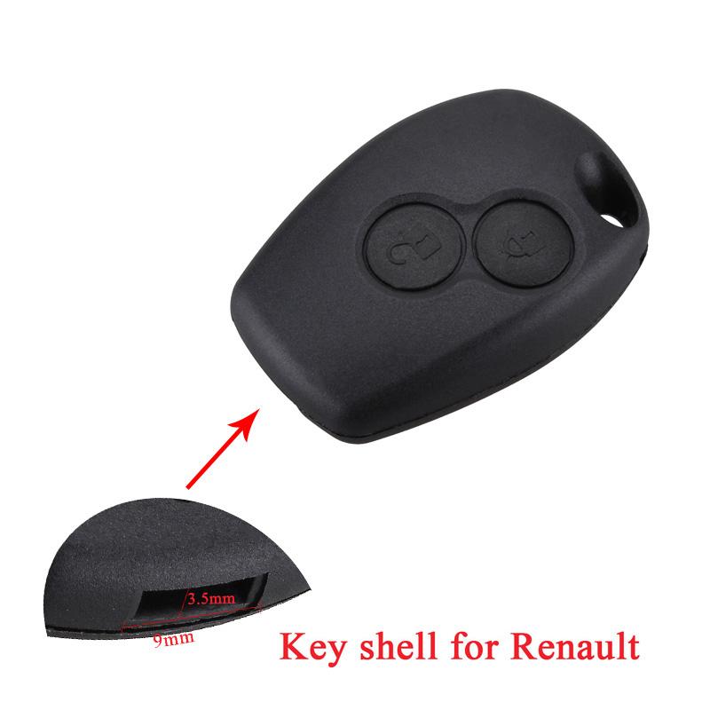 2Buttons Replacement Car Key Shell For Renault Duster Clio DACIA 3 Twingo Logan Sandero Modus Key Case Without Blade.(China)