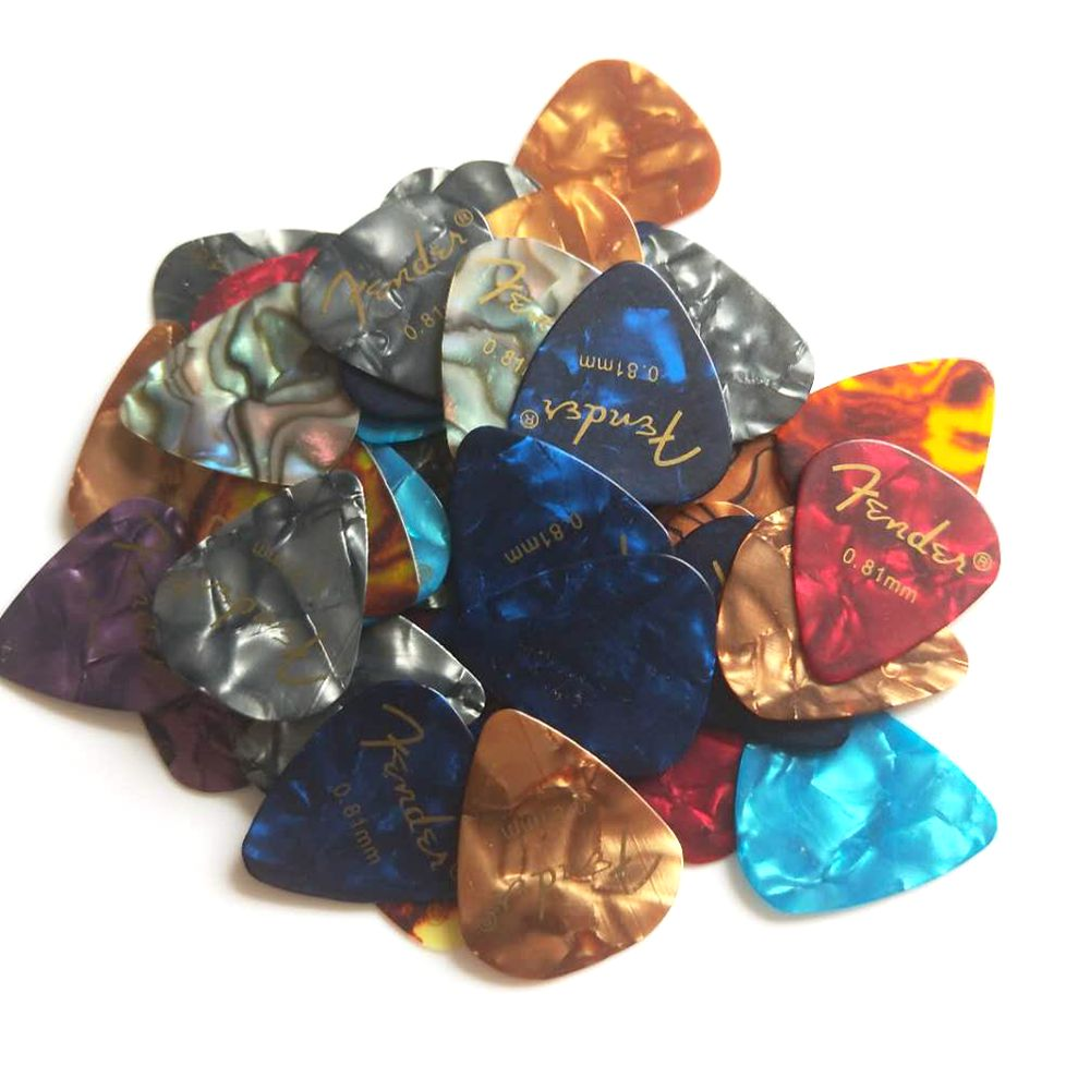 12 Pcs New Acoustic Picks Plectrum Celluloid Electric Smooth Guitar Pick Accessories 0.46mm 0.71mm 0.8mm 0.81mm 0.96mm