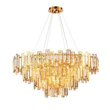 цены Modern crystal chandeliers stainless steel living room dining room lights gold luxury bedroom lights round light luxury LED lamp