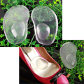 Pair of Arch Support Cushion Half Insole Silicone Gel Front Feet Shoe Pads BS88