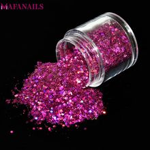 10ML/Box Holographic Flakes Sequins Nail Glitter Powder Mixed Size 12 Colors Choice DIY Decoration for Gel Polish FMA-01