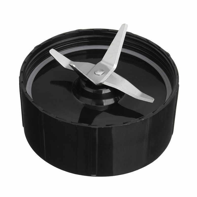 NOVO Aço Inoxidável Plástico Transparente & silver & black Lâmina + Copo Conjunto Liquidificador Liquidificador Parte Substituição Para Bala Mágica