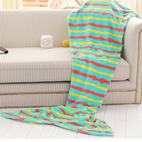 Home Soft Mermaid Tail Sofa plush Blanket Lap Throw Bed Wrap Fin Warm Cocoon Costume Girls 820055