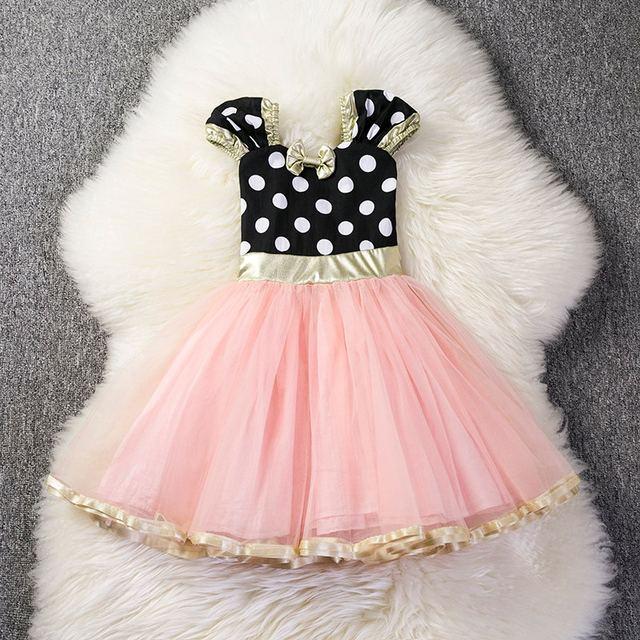 Famoso Vestido De Las Niñas Partido Del Bebé Friso - Ideas de ...