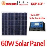 DOKIO Brand 60W 18 Volt Solar Panel China 10A 12 24 Volt Controller 10 Watt Flexible