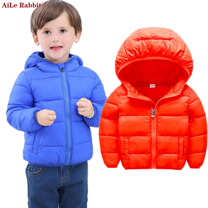 AiLe Rabbit 2017 Children Winter Baby Parkas Outerwear Coats Boys and Girls Down Cotton Fashion Brother and Sister Zipper Jacket 2017 new children baby winter cotton padded jacket toddler girls boys zipper nylon coat fashion outerwear kids parkas clothes