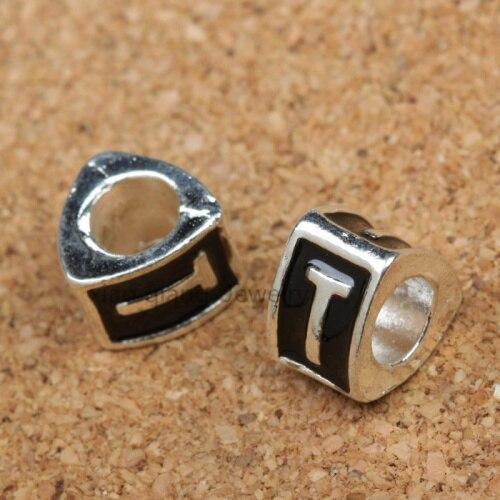 f351cf4e9a3 20 unids plata tibetana joyería letra aleación beads fit Pandora pulsera  DIY AB020