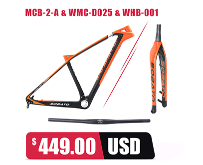 2017 Sobato Brand China Full Carbon MTB Frame Customized Carbon Mountain Bik Frame BSA Or BB30
