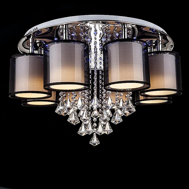 Acrylic Flush Ceiling Lights White Light Frame Home