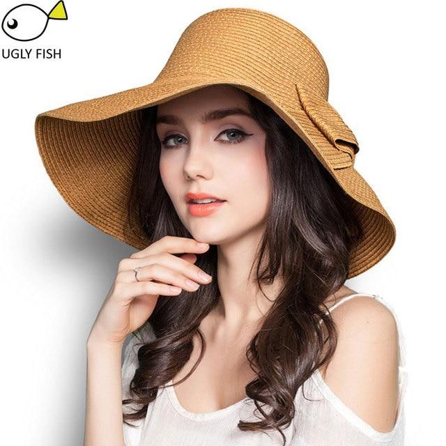 Sombreros de verano para las mujeres sombrero de paja playa sombreros de  sol sombreros de las ced0fe91418