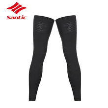 Winter Santic Fitness Cycling Leg Warmers Sports MTB Bicycle Leg Sleeve Knee Warm Thermal Leg Protect