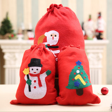 Cute Christmas Gift Bags Santa Claus Snowman Big Backpack Kids Banquet Xmas Gifts Holders Bag Home Party Christmas Decorations