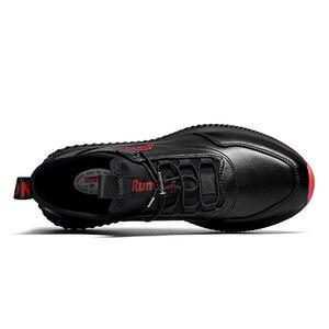 Image 4 - SUROM Atmungsaktive Turnschuhe Leder Casual Schuhe Männer Leichte Komfortable Außen Lace Up Sportschuhe Männlichen Nicht slip