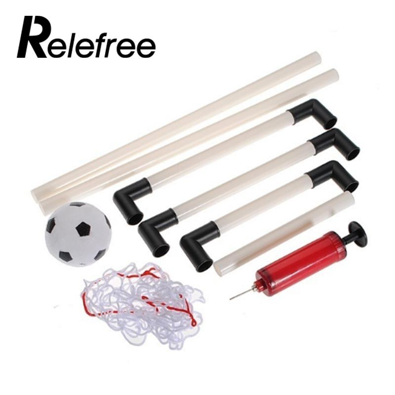 new New 2 Sets DIY Children Sports Soccer Goals with Soccer Ball and Pump Practice Scrimmage Game Football Gate DIY White