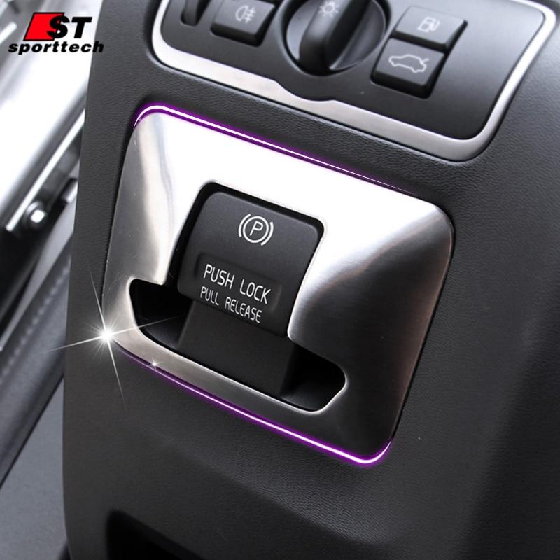 Prix pour Voiture électrique parc de frein autocollants pour volvo xc60 s60 s60l V60 Chrome Styling Couvre Pour Volvo XC60 S60/L V60 Voiture accessoires