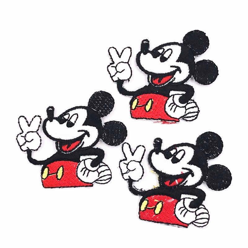 С Микки Маусом вышитые железа на патчи заплатка для одежды значок сделай сам для Костюмы оптовая ремонт нашивки для куртки Счастливый мышь
