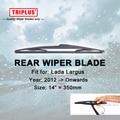 """Lâmina de Limpador traseiro para Lada Largus (2012-Onwards) 1 pc 14 """"350mm, Traseira Do Carro Brisas, para Janela Traseira Brisas Blades"""