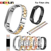Nueva llegada correa de reloj de acero inoxidable de moda para Fitbit Alta pulsera de correa de enlace de banda de reloj inteligente de Alta calidad