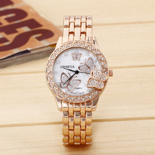 Ladies Watches Top Brand Luxury Casual Batterfly Diamond Gold Stainless steel Women Quartz Business Wristwatch relogios