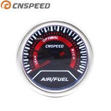 """CNSPEED """" 52 мм Авто воздуха датчик топлива дымовые линзы воздушный измеритель отношения топлива супер радио с фонариком автомобильный метр"""