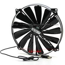 A20020-07CA-2JN-F1 DF2002005SELN 5V 0.30A 20 см 200*200*20 мм USB вентилятор охлаждения