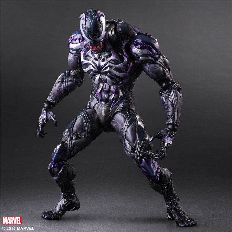 SQUARE ENIX Play Arts KAI Spiderman Venom Marvel Universe Variant Juguetes PVC Action Figure Kids Toys Brinquedos 25cm huong anime figure 28 cm square enix variant play arts spiderman spider man pvc action figure collectible model toy brinquedos